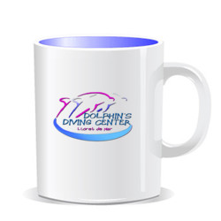 TAZA DOLPHIN'S DIVING CENTER LLORET DE MAR - Taza Personalizada Color Interior
